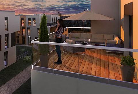 nowe mieszkania na sprzedaż Katowice - balkon, loggia, taras lub ogródek w każdym mieszkaniu